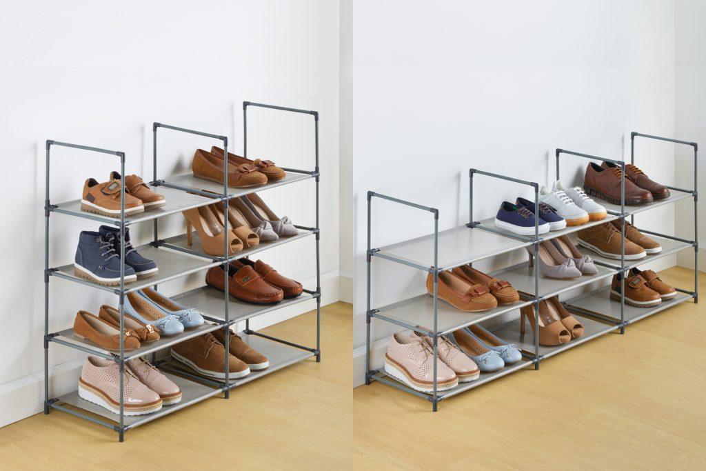 Zapatera Modular y Zapatera Dúo Betterware - Ordenar zapatos optimizando espacios.